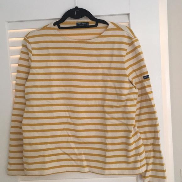 38a1892cd8 Saint James Tops   Latelier Ecru Mustard Striped Tee   Poshmark
